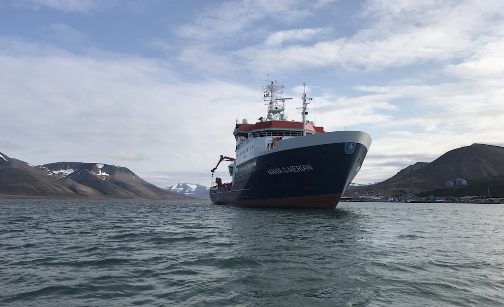 Start of expedition MSM86 in Longyearbyen/Spitzbergen (photo: Katharina Anna Unger Moreno)