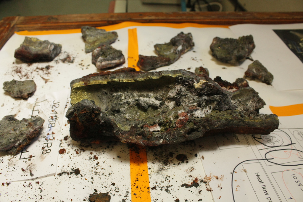 Sample of a hydrothermal chimney found at Brothers volcano